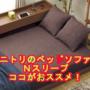 ニトリのソファーベッドorベッドソファーが人気 ベッドソファNスリープのココがおススメ!